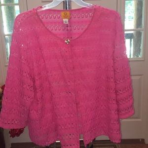 Pink Throw Quarter Sleeve Sweater